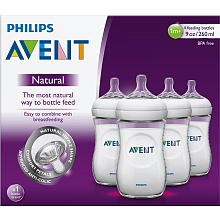 Philips Avent - Lot de 4 biberons Natural 260 ml - Philips Avent
