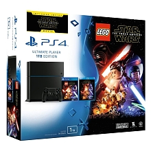 Console PlayStation 4 - 1 To - Jet Black (+ Lego Star Wars : Le Réveil de la Force + DVD Star Wars Épisode - Sony