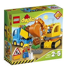 LEGO® DUPLO Town - Le camion et la pelleteuse - 10812 - Lego