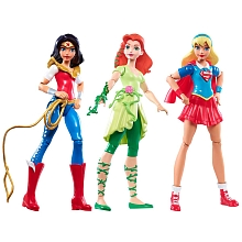 DC Super Héro Girls - Pack de 3 poupées - Mattel