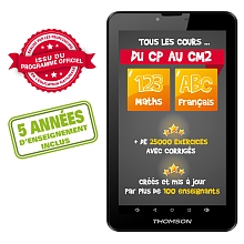 Thomson - Tablette Android Éducative Teo 7'' - École Primaire - Thomson