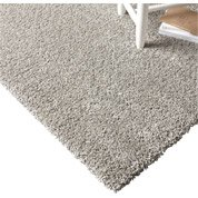 Tapis gris shaggy Lizzy