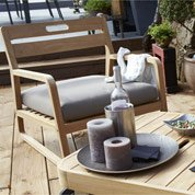 Chaise basse de jardin en bois Resort naturel