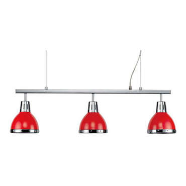 Barre 3 lampes CYNTHIA coloris rouge -