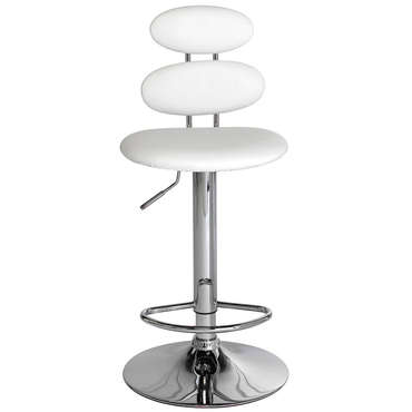 Tabouret de bar CIRCLE coloris blanc -