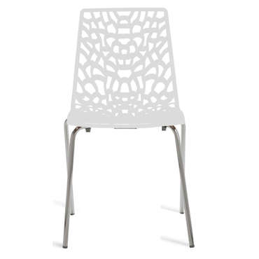 Chaise GROOVE 2 coloris blanc -