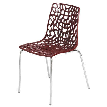 Chaise GROOVE 2 coloris rouge -