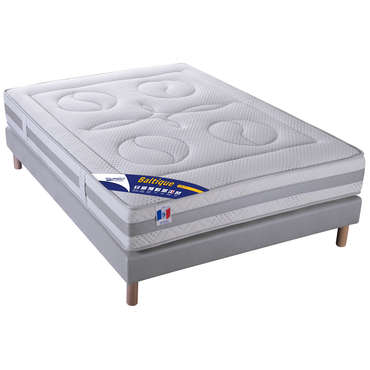 matelas sommier 140x190 cm volupnight by conforama. Black Bedroom Furniture Sets. Home Design Ideas