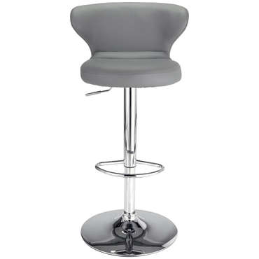 Tabouret de bar ARTHUR coloris gris -