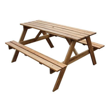 Table de jardin + 2 bancs en acacia massif -
