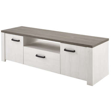 Banc TV DUKE coloris blanc -