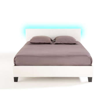 Lit adulte 160x200 cm avec led BLOOM LIGHT -