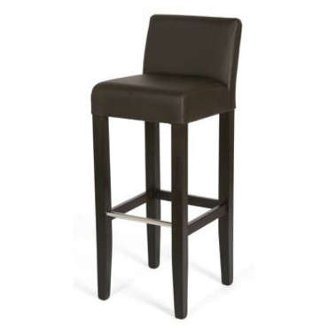 Tabouret de bar COSMO coloris marron -