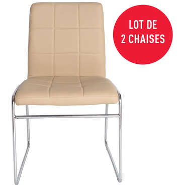 Lot de 2 chaises EMERIC coloris camel -