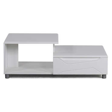 Table basse rectangulaire NEWPORT coloris blanc -