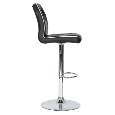 Tabouret de bar RACING coloris noir -