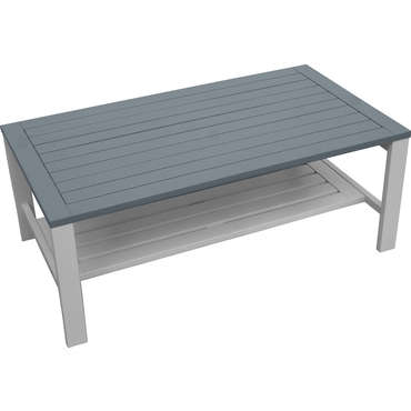 Table basse rectangulaire BURANO coloris gris -