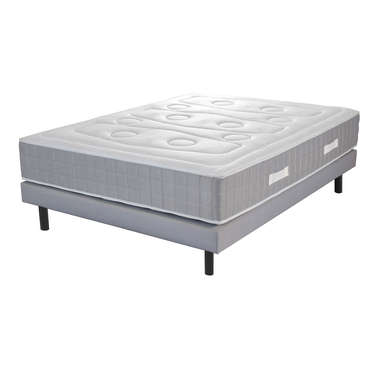 Matelas + sommier 140x190 cm ressorts VOLUPNIGHT BY CONFORAMA SIMPLICITY - VOLUPNIGHT BY CONFORAMA