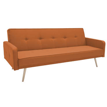 Banquette-lit FJORD coloris orange -