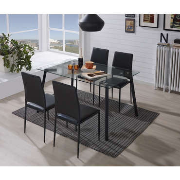 Table + 4 chaises JESSICA -