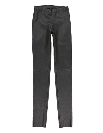 Pantalon slim en cuir ASTEROÏDE - OAKWOOD