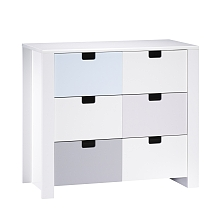 LDD Sauthon - City Bleu - Commode 3 tiroirs - Sauthon