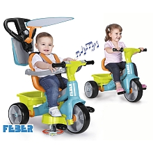 Feber - Tricycle Baby Plus Music 360° - Vert - Feber