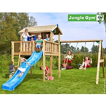 LDD Jungle Gym - Maisonnette Bois ''Jungle Playhouse XL 2-Swing X'tra'' - Trigano
