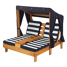 LDD Kidkraft - Chaise Longue Double - Navy/White - Kidkraft