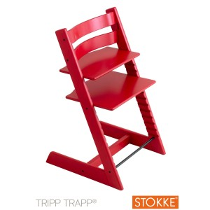 Chaise haute Tripp Trapp rouge - Stokke
